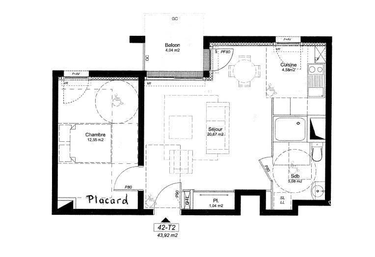location appartement 2 pi ces 43 m rennes 35 43 m 560 e de particulier particulier pap. Black Bedroom Furniture Sets. Home Design Ideas