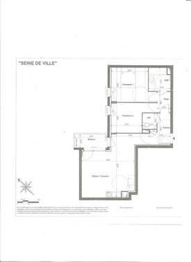 Location appartement 3pièces 61m² Alfortville (94140) - 1.425€