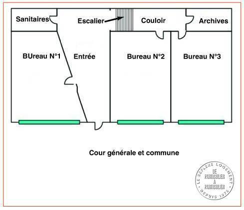 Vente et location Bureaux, local professionnel Clichy (92110) 52m² 1.380€