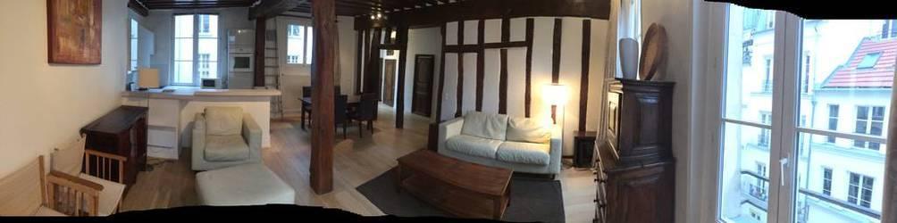 Location meublée appartement 2pièces 65m² Paris 2E - 2.300€