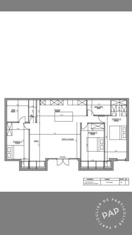 vente appartement 5 pi ces 100 m bourg la reine 92340 100 m de particulier. Black Bedroom Furniture Sets. Home Design Ideas