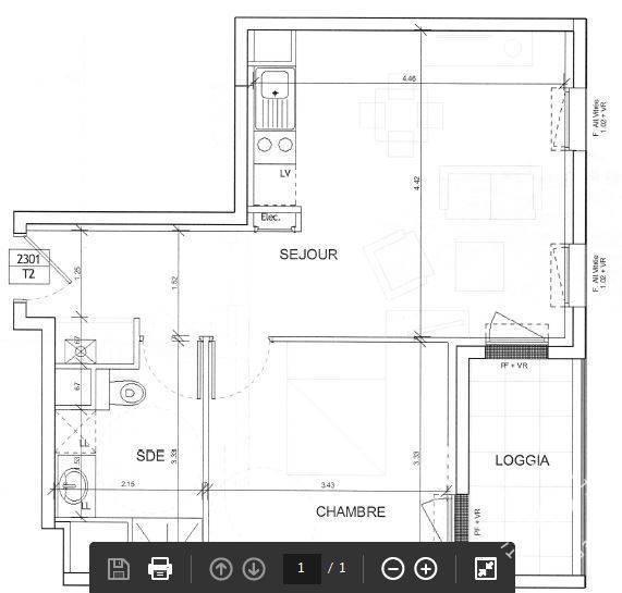 location appartement 2 pi ces 41 m caen 14000 41 m 565 e de particulier particulier. Black Bedroom Furniture Sets. Home Design Ideas