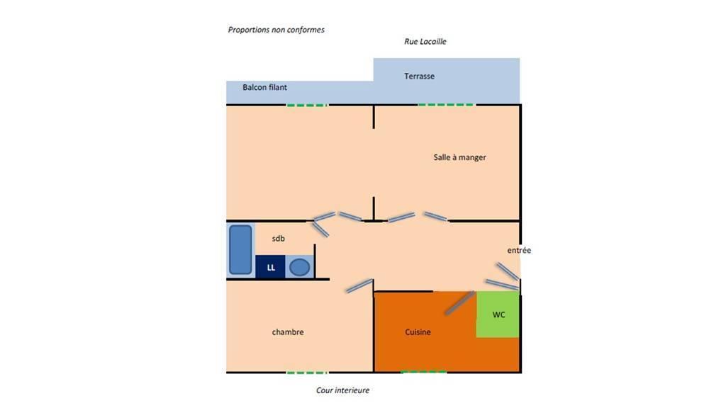 Location meubl e appartement 3 pi ces 55 m paris 17e 55 for Location meuble paris 17 particulier
