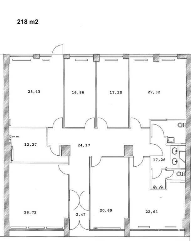 location bureaux et locaux professionnels 218 m vincennes. Black Bedroom Furniture Sets. Home Design Ideas