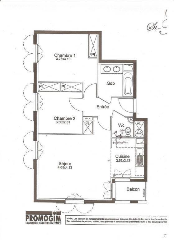 location appartement 3 pi ces 59 m serris 77700 59 m 801 de particulier. Black Bedroom Furniture Sets. Home Design Ideas