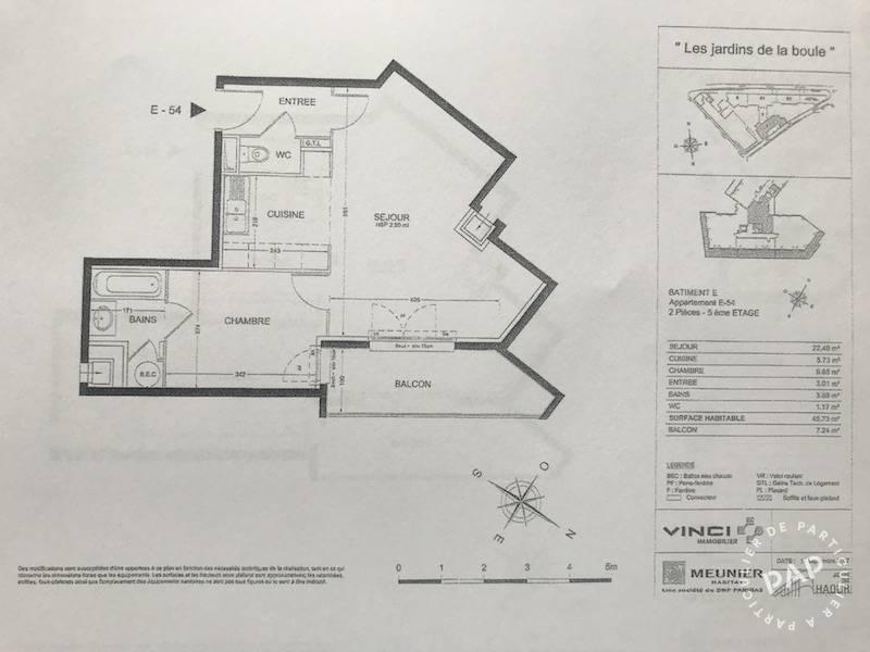 location appartement 2 pi ces 46 m nanterre 92000 46 m 970 de particulier. Black Bedroom Furniture Sets. Home Design Ideas