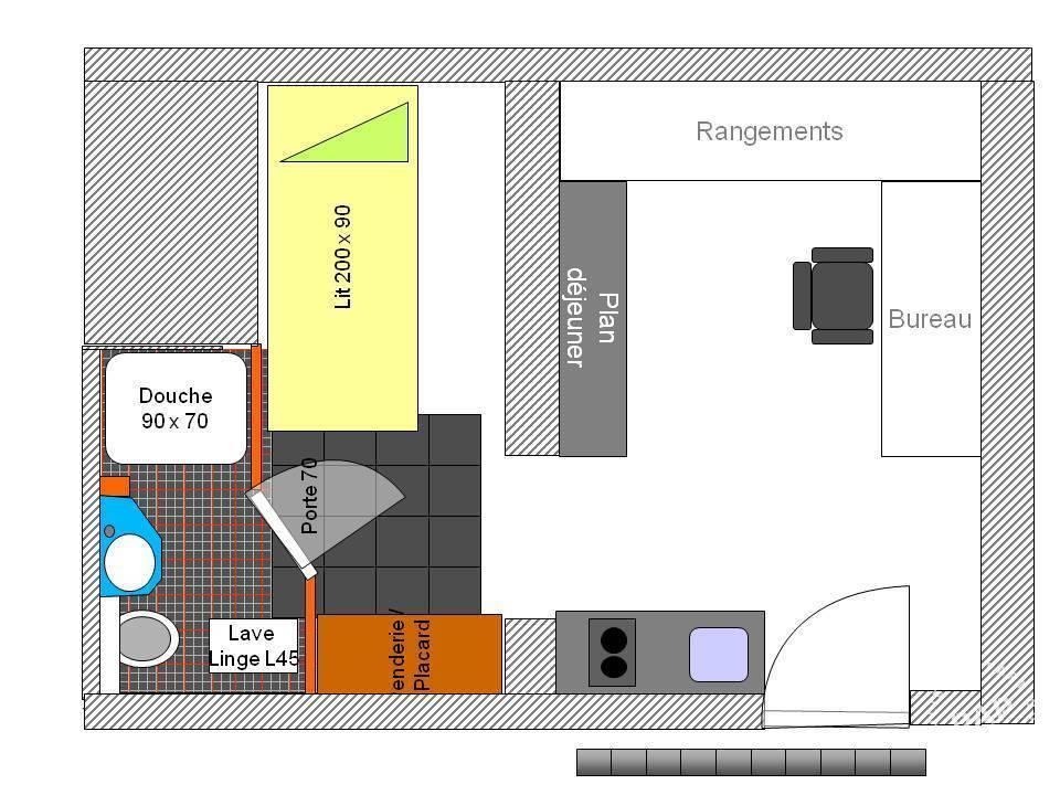 Location Meubl 233 E Studio 19 M 178 Paris 8e 19 M 178 750