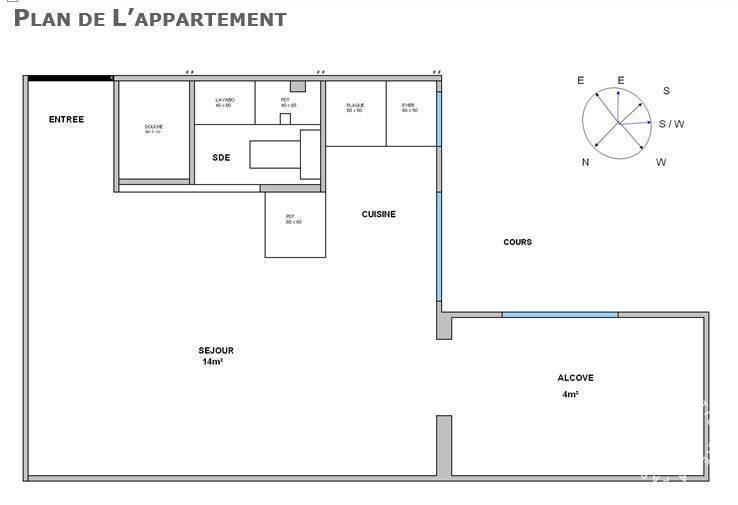 location appartement 2 pi ces 20 m levallois perret 92300 20 m 760 de particulier. Black Bedroom Furniture Sets. Home Design Ideas
