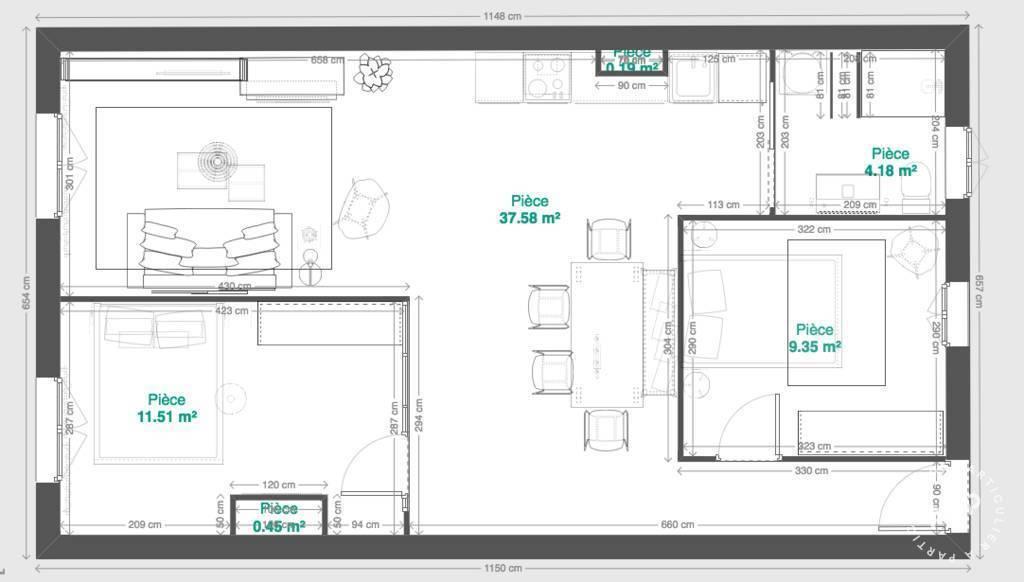 Location appartement 3 pièces Aix-en-Provence (13)
