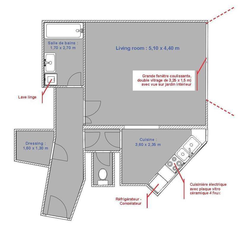 Immobilier Paris 14E 1.455€ 47m²