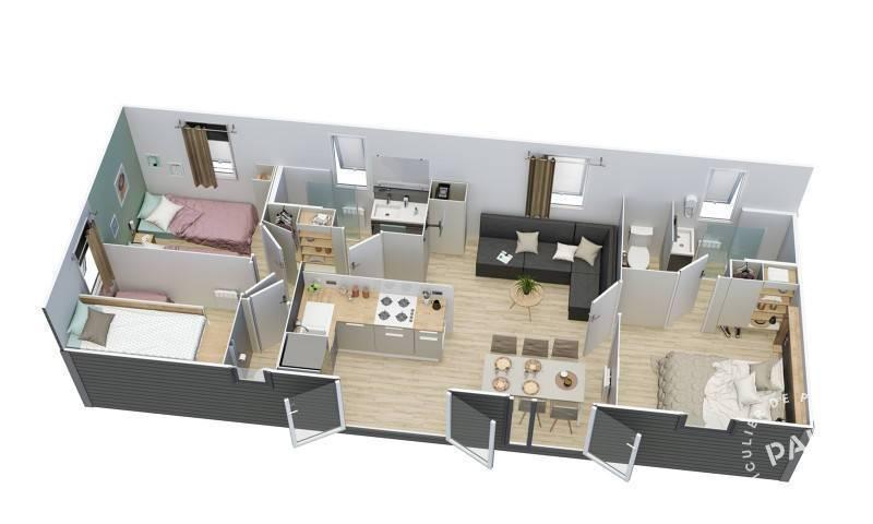 vente chalet mobil home saint julien en born 40170 de particulier particulier. Black Bedroom Furniture Sets. Home Design Ideas