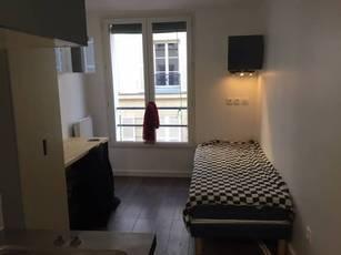 Location meublée studio 10m² Paris 17E - 600€