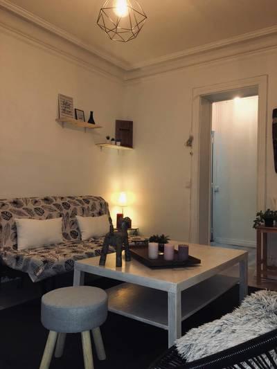Location meublée appartement 2pièces 36m² Paris 18E - 1.120€