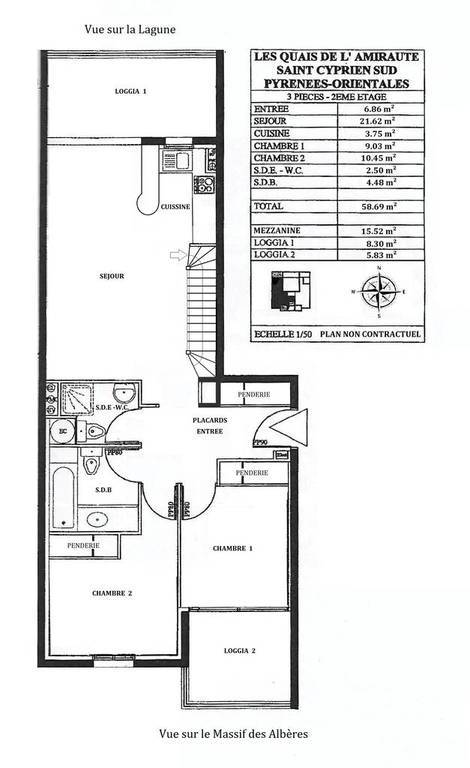 Vente Appartement Saint-Cyprien (66750) 88m² 300.000€