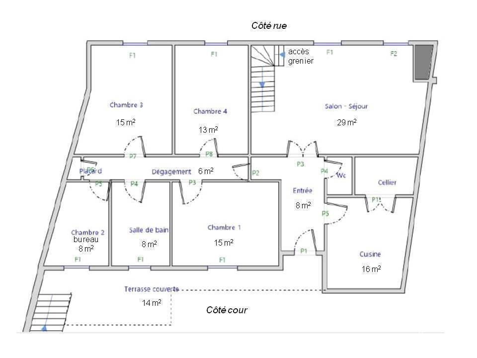 Appartement 185.000€ 121m² Pau (64000)