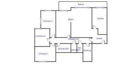 Vente appartement 5pièces 98m² Le Plessis-Robinson (92350) - 510.000€