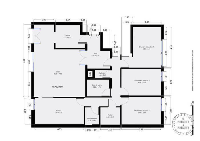 Vente Appartement Paris 13E 110m² 940.000€