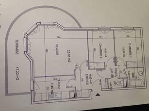 Location appartement 3pièces 65m² Montevrain (77144) - 1.250€