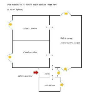 Location meublée appartement 3pièces 42m² Paris 16E - 1.780€
