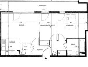 Location appartement 3pièces 55m² Fresnes (94260) - 1.000€