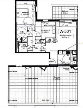 Vente appartement 3pièces 63m² Tours (37) - 215.000€
