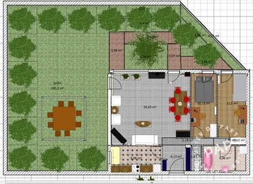 Appartement 160.000€ 77m² Evry (91000)