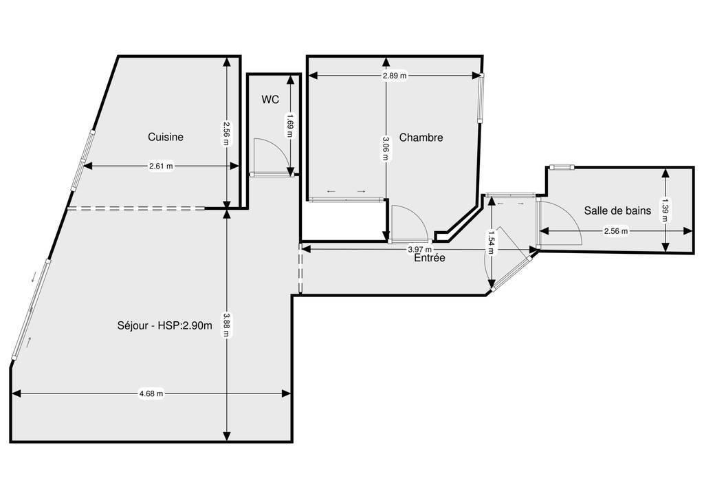 Vente Appartement Biarritz (64200) 42m² 340.000€