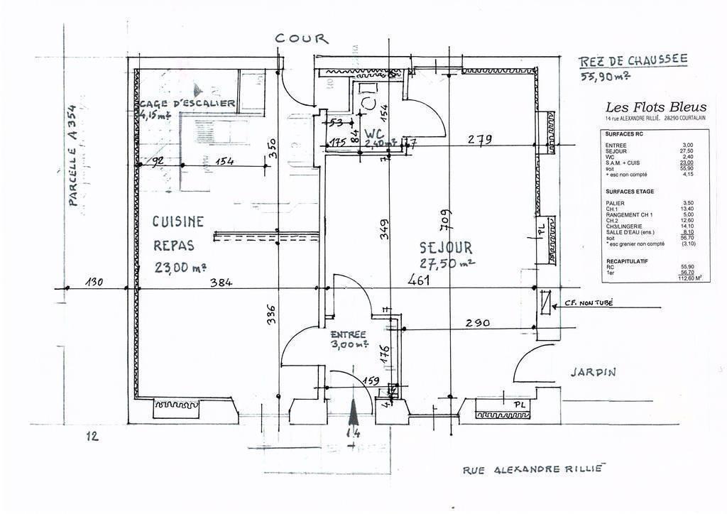 Immobilier Courtalain (28290) 92.500€ 120m²