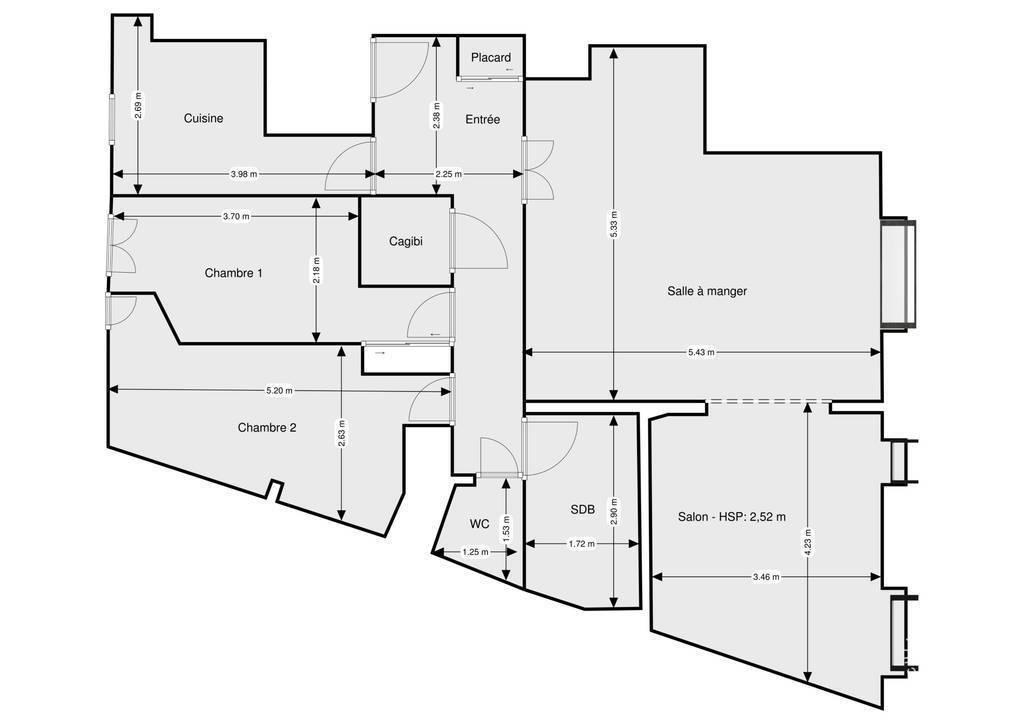 Vente Appartement Paris 17E 90m² 890.000€