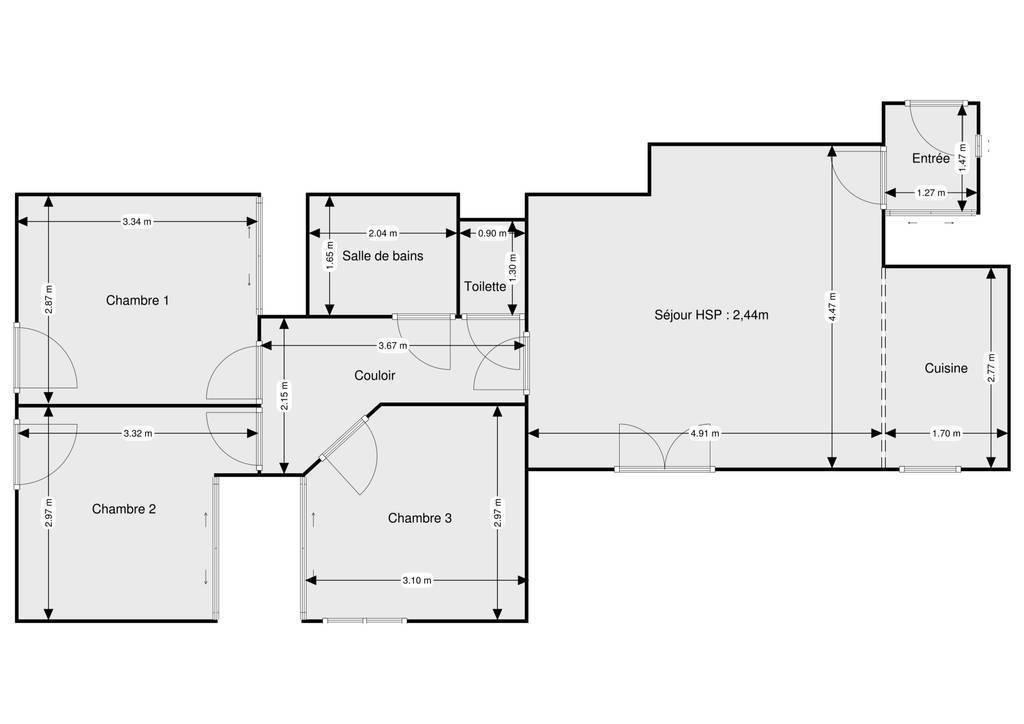 Vente Appartement Maubeuge 80m² 99.500€