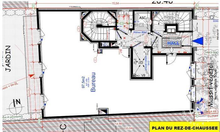 Vente et location Bureaux, local professionnel Vincennes (94300) 102m² 1.590.000€