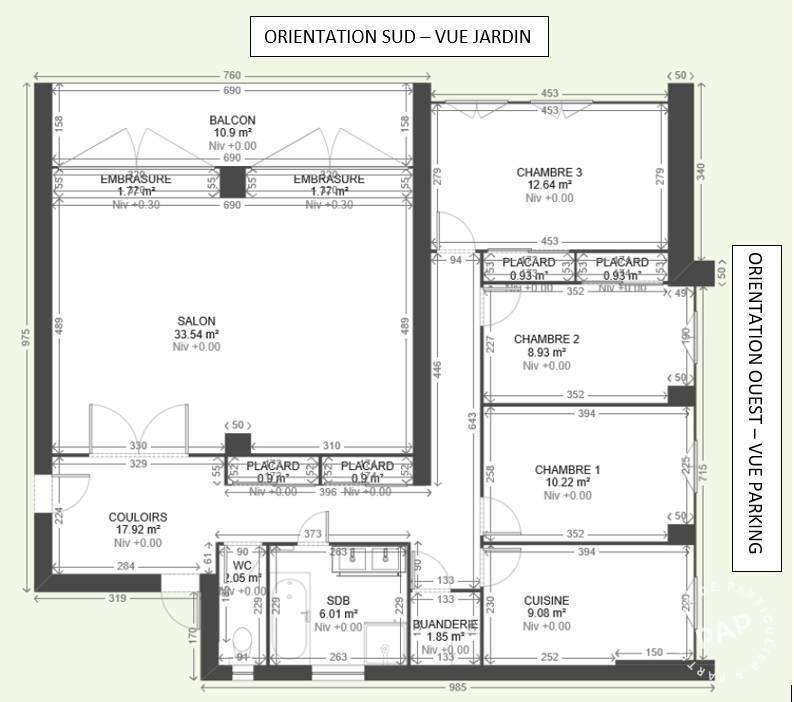 Immobilier Sainte-Foy-Les-Lyon (69110) 410.000€ 102m²