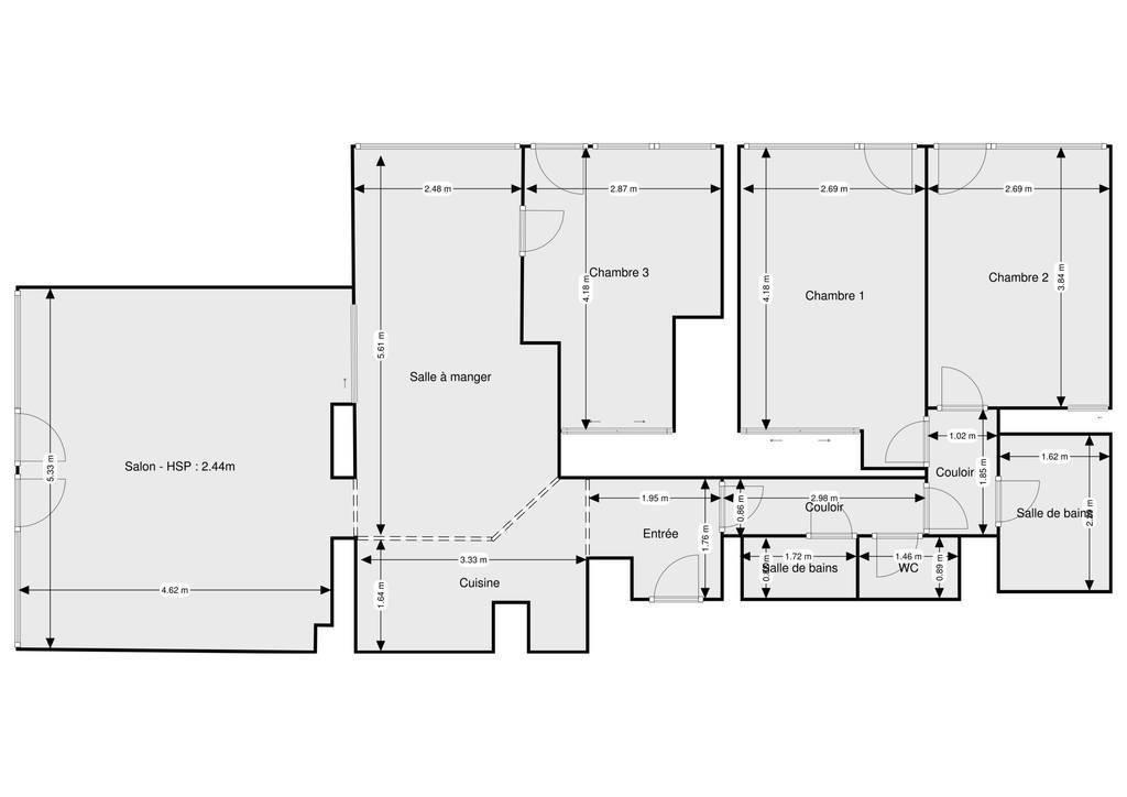 Appartement 897.000€ 97m² Paris 13E