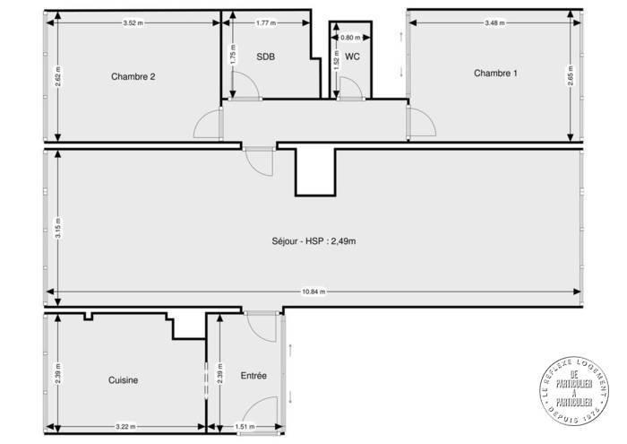 Vente Appartement La Madeleine (59110) 72m² 165.000€
