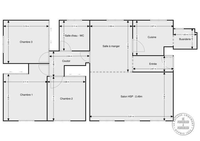 Vente Appartement Saint-Jean-De-Braye (45800) 79m² 133.000€