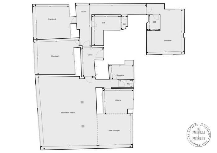 Vente Appartement Paris 15E 177m² 2.090.000€