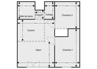 Loggia-Terrasse 22M²