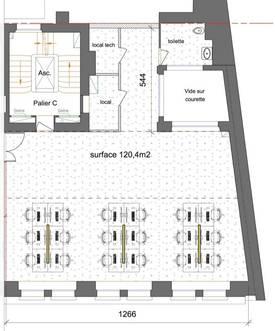 Location bureaux et locaux professionnels 130m² Paris 9E - 7.000€