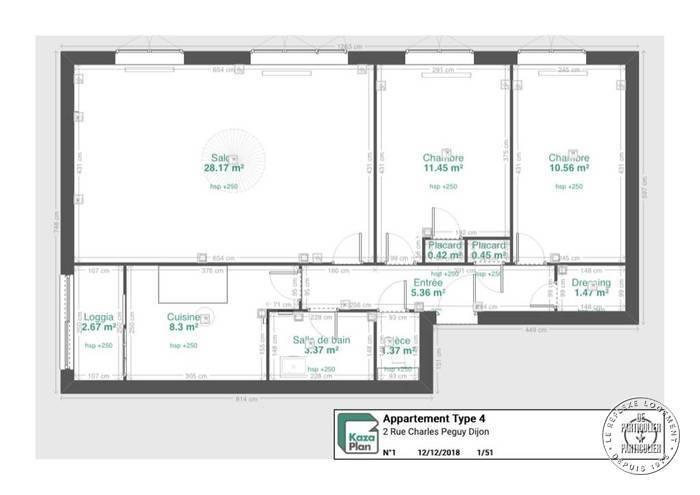 Appartement Dijon (21000) 159.600€