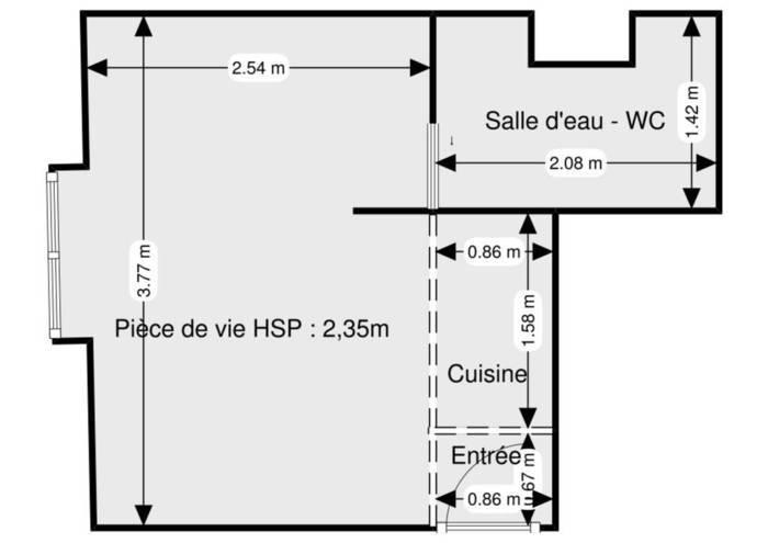 Immobilier Paris 9E 238.000€ 15m²