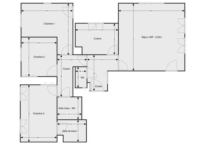 Vente Appartement Le Plessis-Robinson (92350) 90m² 555.000€