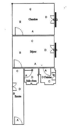 Location meublée appartement 2pièces 31m² Paris 15E - 1.300€