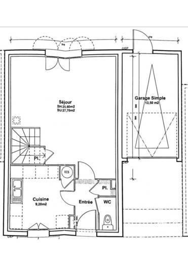 vente maison 78 m combs la ville 77380 78 m 261. Black Bedroom Furniture Sets. Home Design Ideas