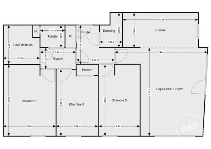 Vente Appartement Noisy-Le-Grand (93160) 87m² 398.000€