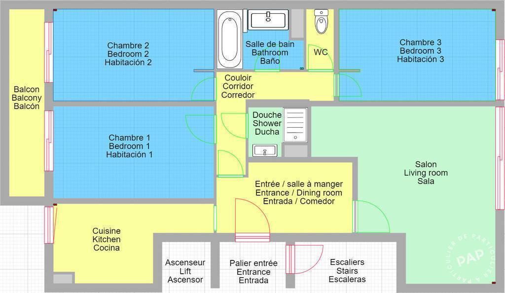Location Appartement Colocation - Appartement 80M² 11m² 700€
