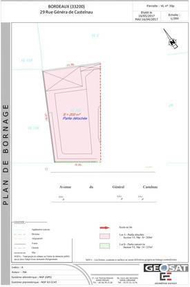 Vente terrain 203m² Bordeaux (33) - 269.000€