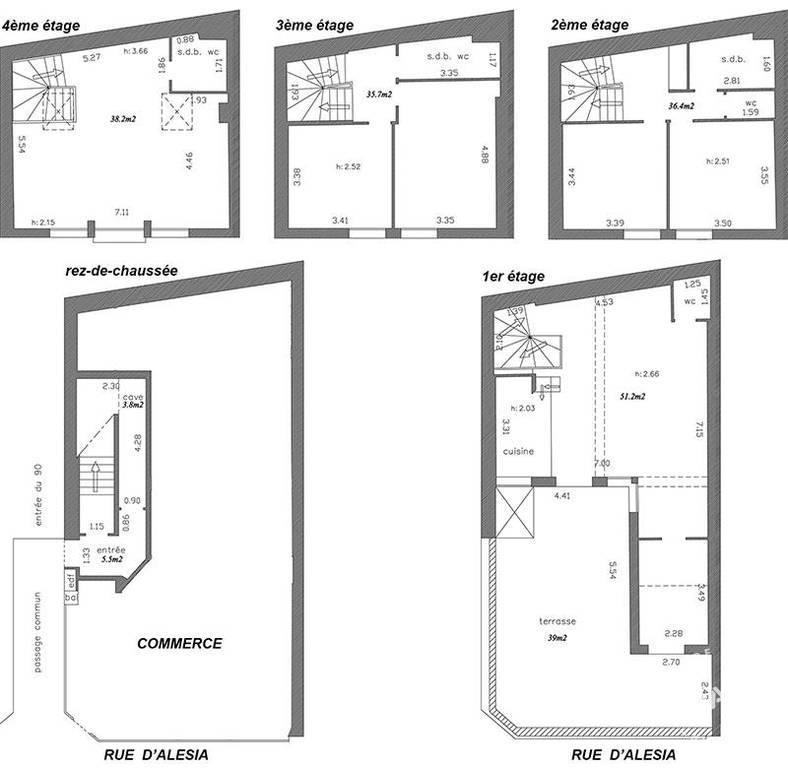 Vente immobilier 4.500.000€ Paris 14E