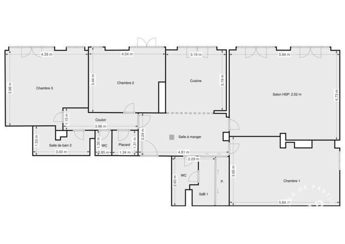Vente Appartement Paris 15E 114m² 1.090.000€