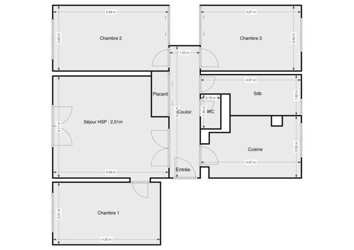 Vente Appartement Sainte-Genevieve-Des-Bois (91700) 76m² 192.000€