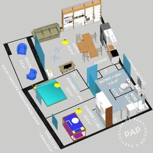 Vente appartement 3 pièces Lavernose-Lacasse (31410)